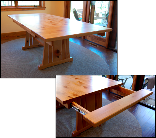 Trestle Table With Extensions